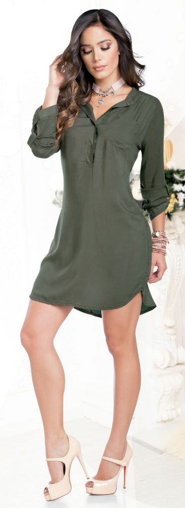 Style Ways to Wear a Casual Shirt Dress the shirt dress looks perfect