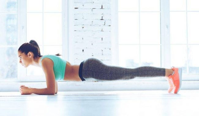 The third exercise plank