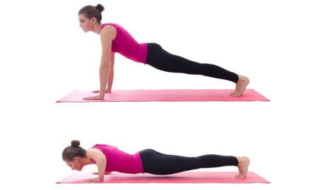 The fifth exercise is push ups