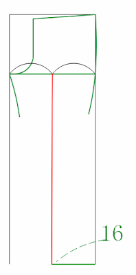 Determine the middle of the lower side sixteen 16