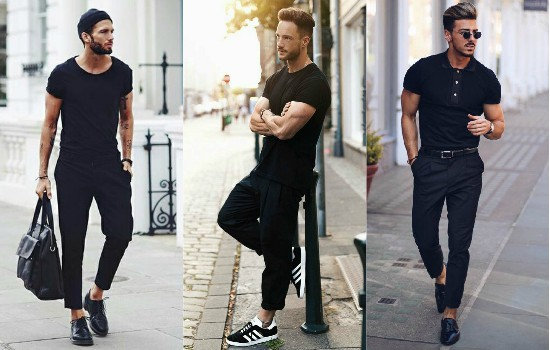 Men's fashion in dark colors