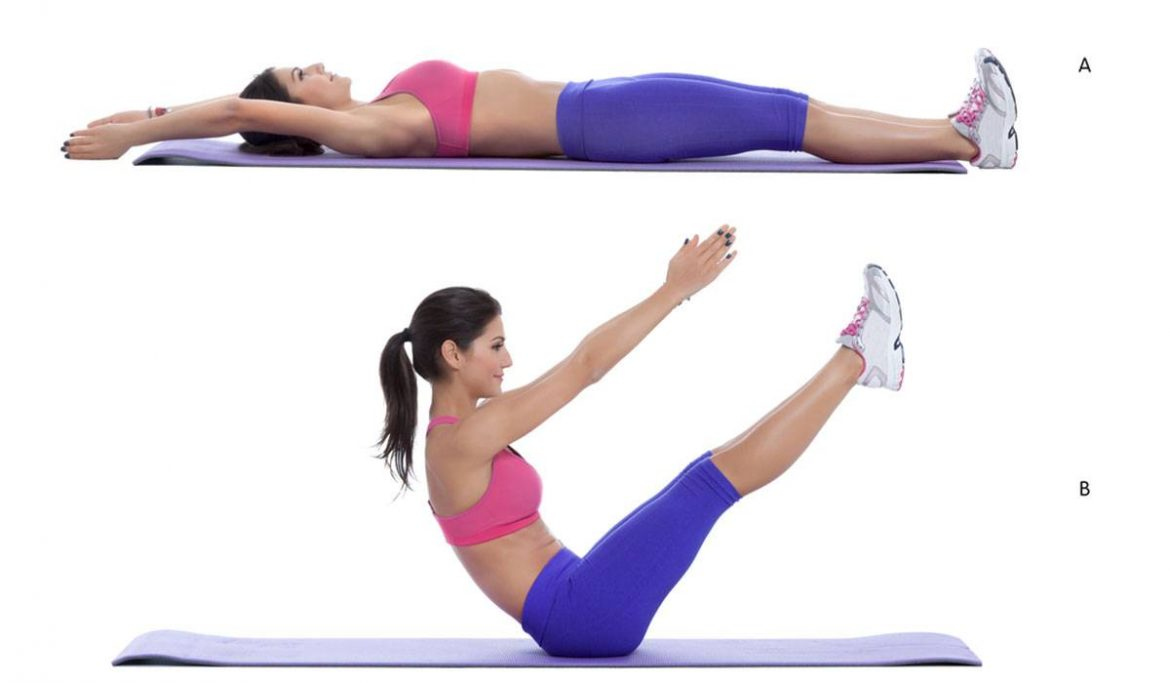 3 exercises to strengthen the abdominal muscles at home with steps