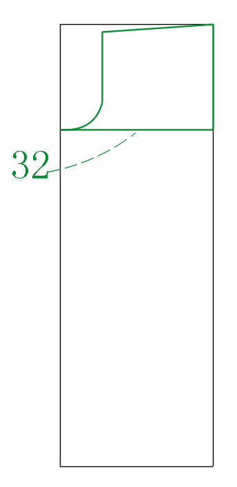 The total size of the buttocks and sash 32