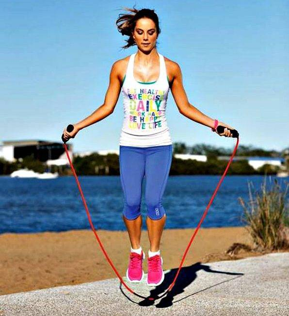 Types of double jump skipping exercises