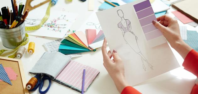 manual drawing or designers use modern computer programs for fashion