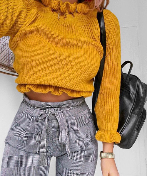 a casual sweater with a funky look