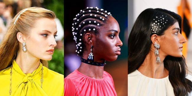 Hairstyles decorated with innovative accessories