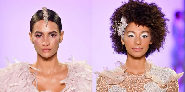 Hairstyles decorated with the most beautiful combs