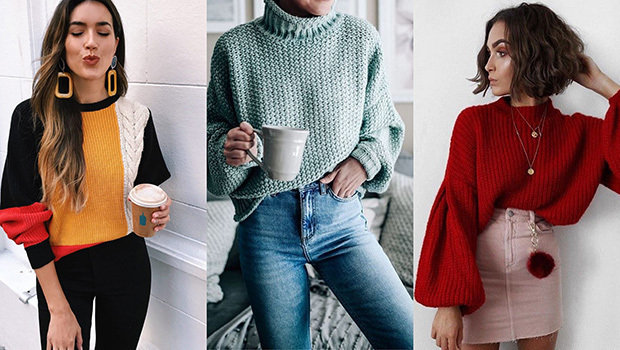 11 tips for a non boring look at the sweater in the winter