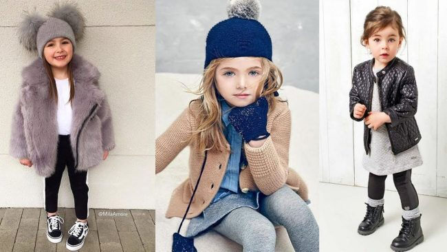 The latest clothes for kids winter girls